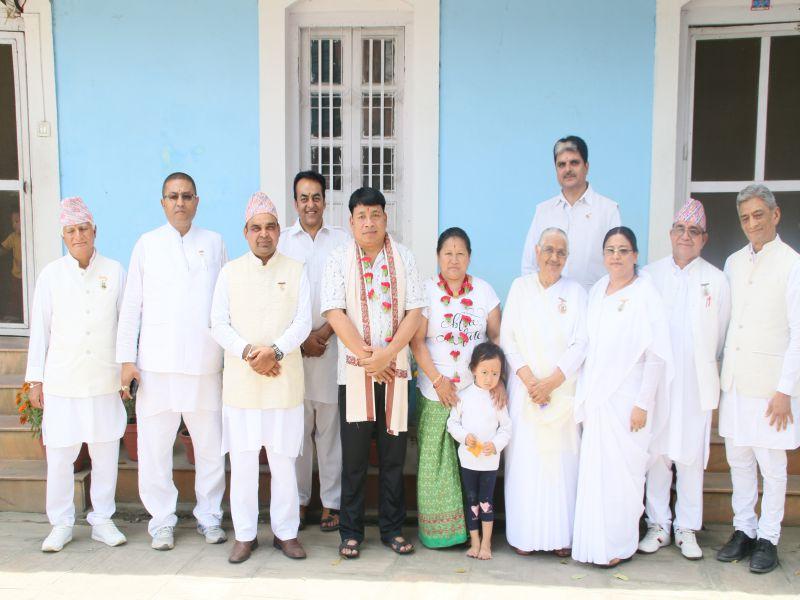 Grop Photo with Hon'ble Vice-President of Nepal Mr. Nanda Kishor Pun