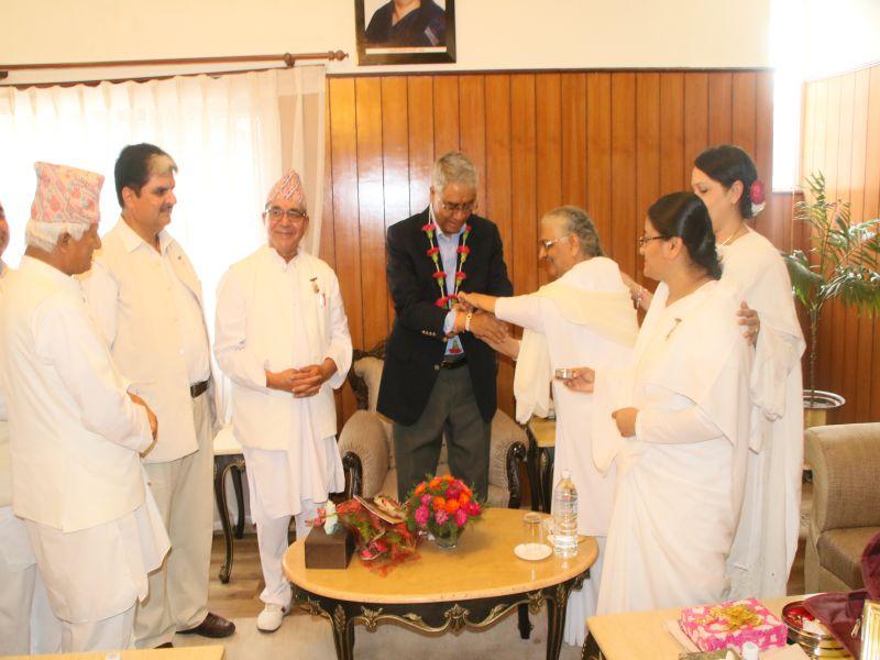 Hon'ble Prime Minister of Nepal, Mr. Sher Bahadur Deuwa