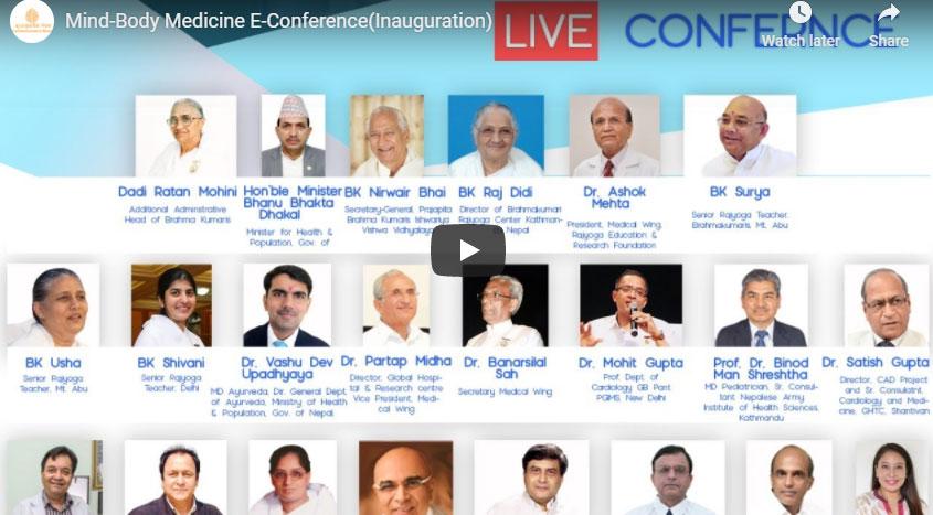 LIVE 12-09-20,09.15 AM  Mind-Body Medicine E-Conference(Inauguration)